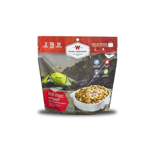Wise Company Outdoor Chili Mac with Beef Freeze Dried Food