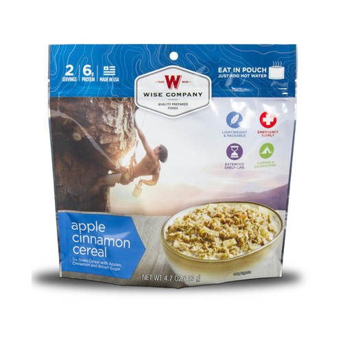 Wise Company Outdoor Apple Cinnamon Cereal Freeze Dried Food