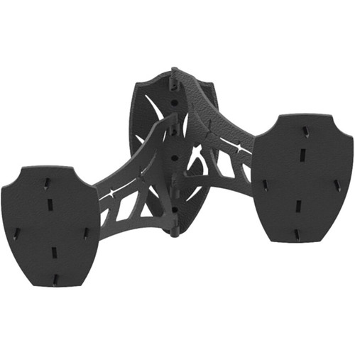 Skull Hooker Dual Shoulder Mount Display Steel Black