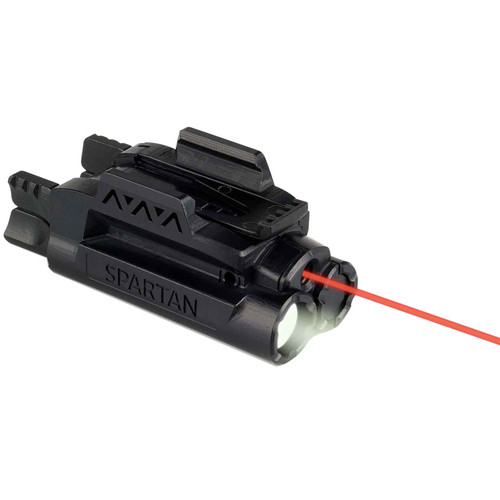 LaserMax Spartan Weapon Light Mint Green LED with Red Laser Sight Picatinny-Style Rail Mount Matte