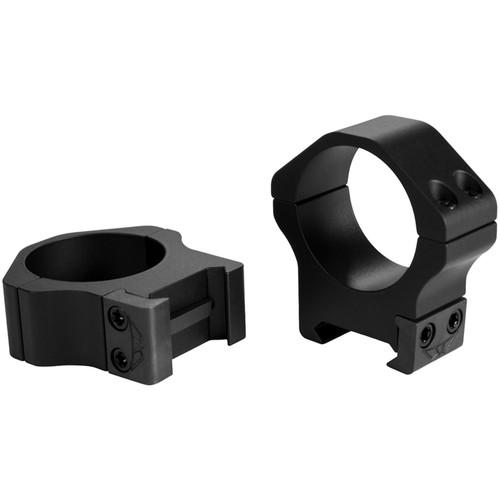 Warne 30mm Maxima Horizontal Permanent-Attachable Weaver-Style Rings Matte Medium