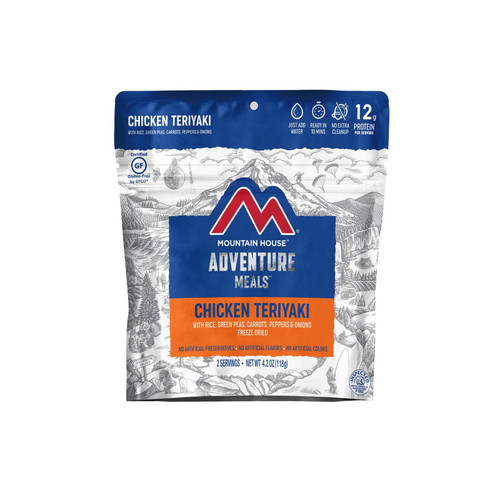 Mountain House Chicken Teriyaki with Rice Gluten Free Freeze Dried Food 2 Serving