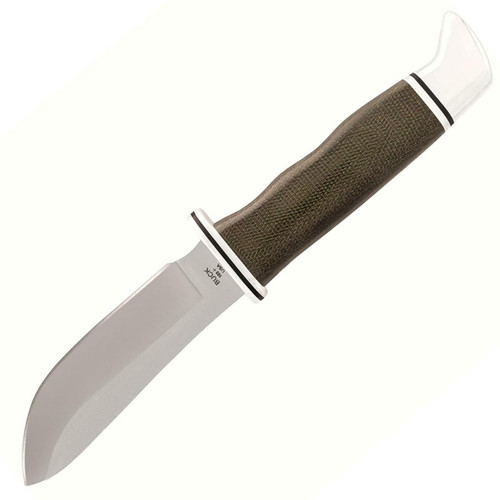 """Buck Knifes 103 Skinner Pro Fixed Blade Knife 4"""" Skinner S35VN Satin Blade Micarta Handle Green"""