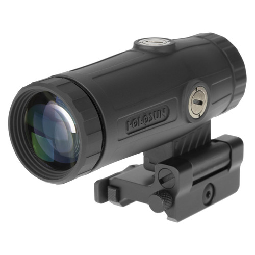 Holosun HM3X 3x Flip Magnifier with Picatinny-Style Lower 1/3 Co-Witness Mount Matte