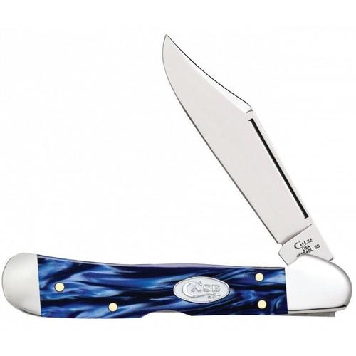 Case & Sons Cutlery Co Blue Pearl Kirinite - CopperLock Folding Knife