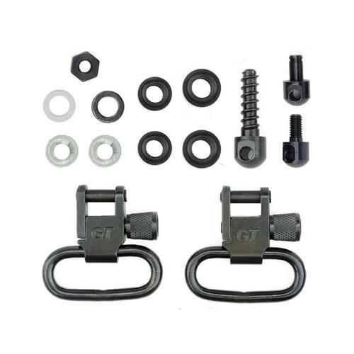 GrovTec Shotgun Locking Swivel Set For Most Pumps & Automatic Magazine Caps Steel Black
