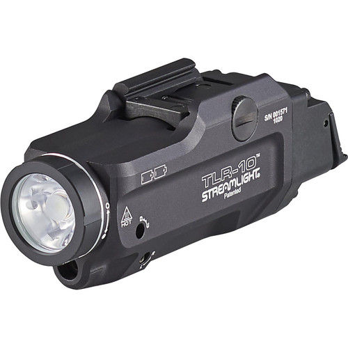 Streamlight TLR-10 Flex Weapon Light LED with Red Laser with 2 CR123A Batteries Aluminum Black