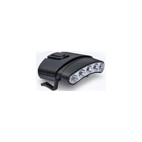 Cyclops Orion Tilt 5 LED Hat Clip Light w/Black Shell, White-Green LED Light Head