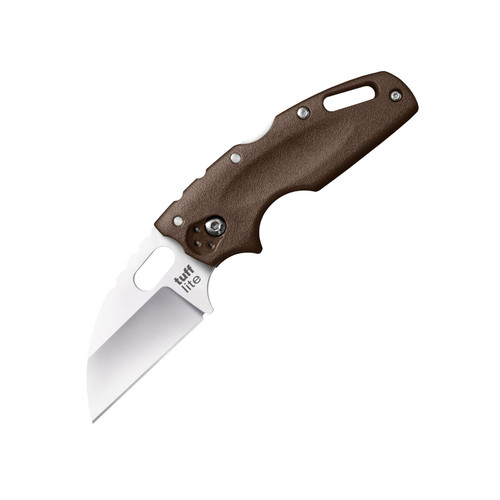 """Cold Steel Tuff Lite Folding Pocket Knife 2.5"""" Wharncliffe AUS 8A Stainless Steel Blade Grivory Handle Flat Dark Earth"""