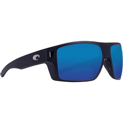 Costa Del Mar Diego Polarized Sunglasses Matte Black Frame/Blue Mirror Glass Lens