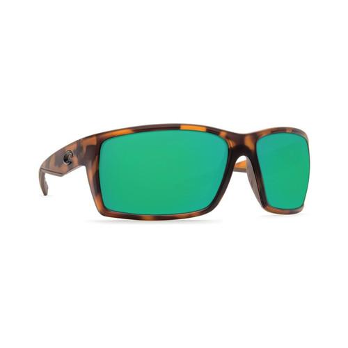 Costa Del Mar Reefton Polarized Sunglasses Matte Retro Tortoise Frame/Green Mirror Glass Lens
