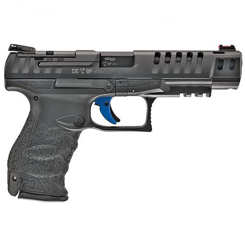 """Walther PPQ M2 Q5 Match, 9mm, 5"""" Barrel, Black Tenifer Finish, 15Rd, 3 Mags, Optics Ready"""