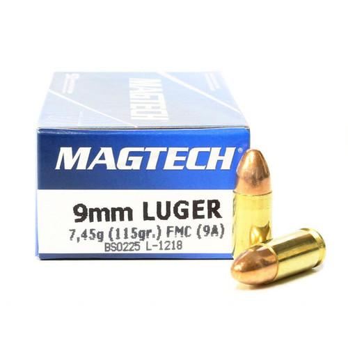 Magtech 9mm Luger Ammunition 115GR Full Metal Jacket 50 Rounds