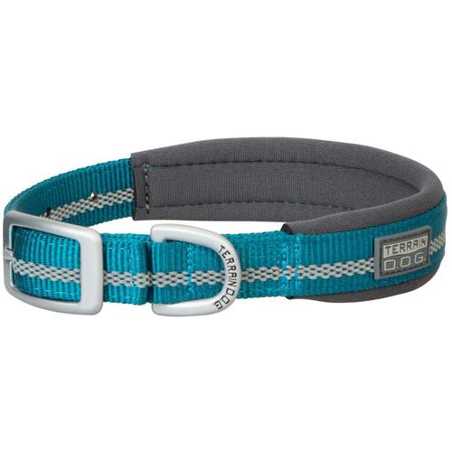 """Terrain D.O.G. Reflective Neoprene Lined Dog Collar, Blue Bay, 15"""""""