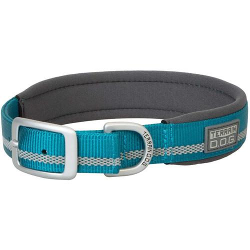 """Terrain D.O.G. Reflective Neoprene Lined Dog Collar, Blue Bay, 19"""""""