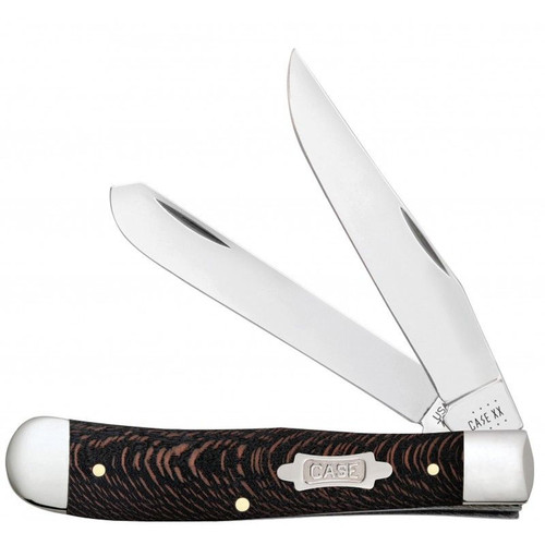 Case XX Black Sycamore Wood Trapper Stainless Pocket Knife