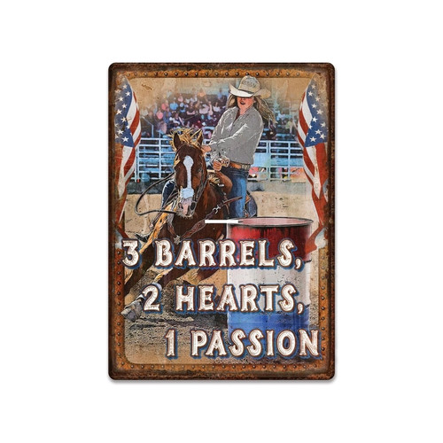 Rivers Edge 2670 Tin Sign 12in x - 17in - Barrels Passion - 2670
