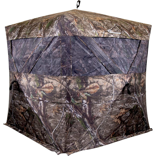 Ameristep Pro Series Extreme View Hub Blind | 3-Person Hunting Blind in Mossy Oak Country DNA Camo