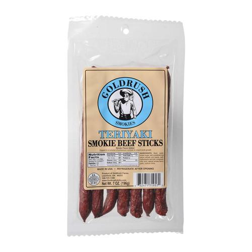 Gold Rush Beef Sticks 7oz. Package (Teriyaki)