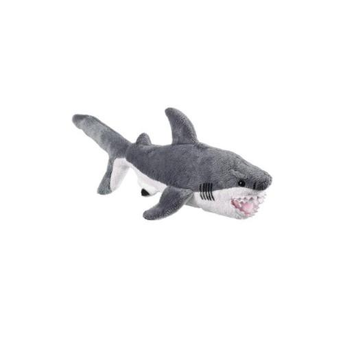 "Plush Great White Shark Stuffed Animal - 12"" - Wildlife Artists"