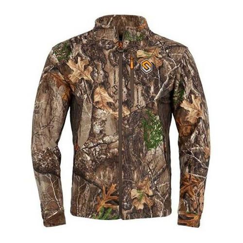 ScentLok Mens Wind Brace Windproof Fleece Jackets, RTE