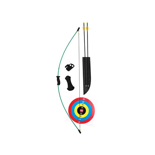"""Bear Archery Wizard Youth Bow Package 10-18 lb 17-24"""" Draw Length Green"""