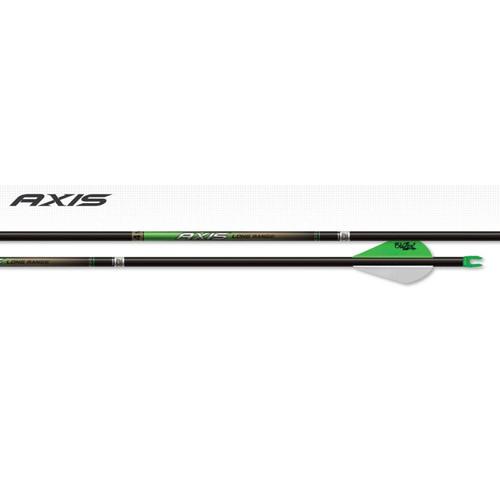 EASTON 4MM AXIS LONG RANGE MATCH GRADE ARROWS 340 BLAZER VANES 6 PK.