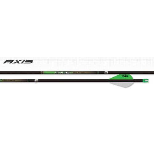 EASTON 4MM AXIS LONG RANGE MATCH GRADE ARROWS 250 BLAZER VANES 6 PK.