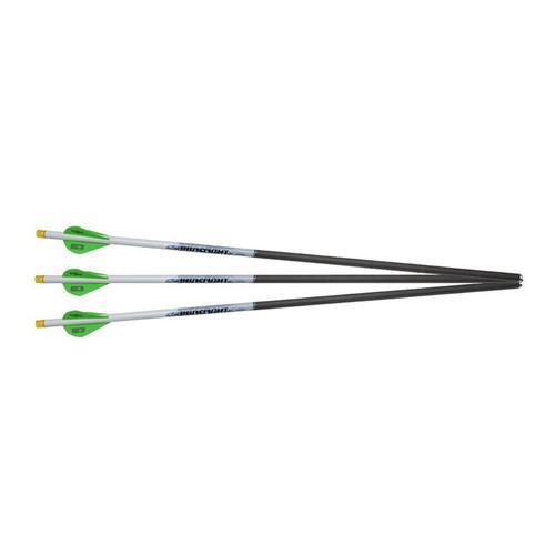 "Excalibur Proflight 16.5"" Carbon Crossbow Bolt 2"" Vanes Lighted Nocks 3PK"