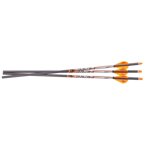 Ravin Carbon Crossbow Bolt MG .001 Straightness Lighted Bolts 400Gr 3PK
