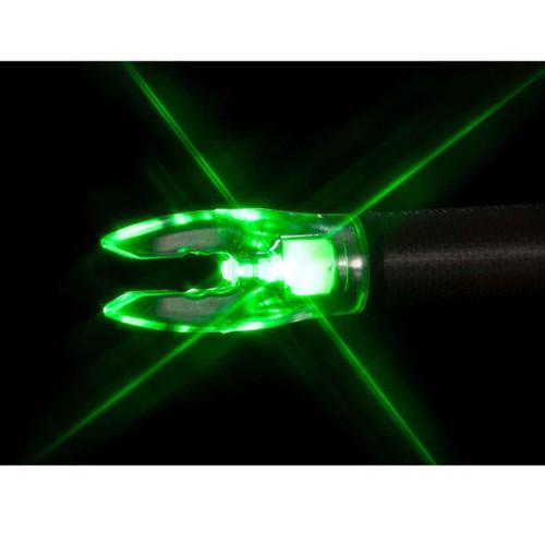 Nockturnal Lighted Nock Green 3 Pack Universal Fit, NT305