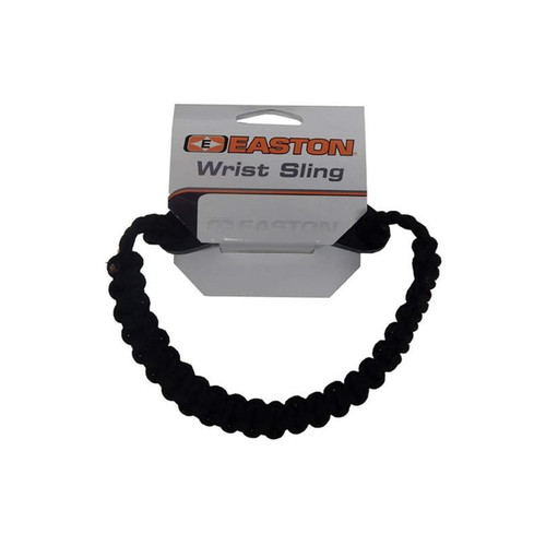 Easton Archery Wrist Sling Diamond Paracord Wide Braid Black