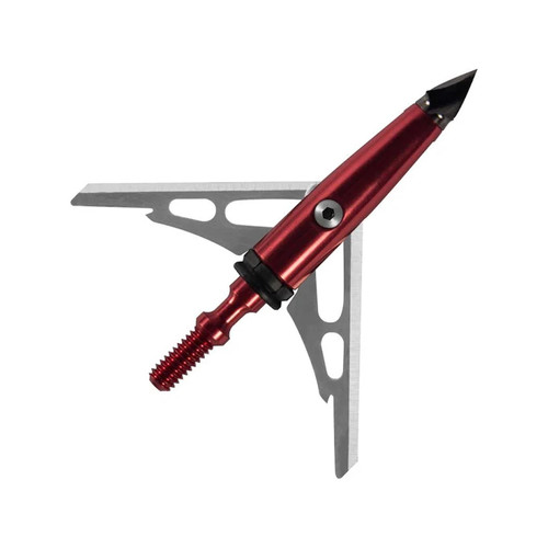 Rage Chisel Tip 100 Grain 2 SC Blade Mechanical Broadhead Pack of 3, 65100