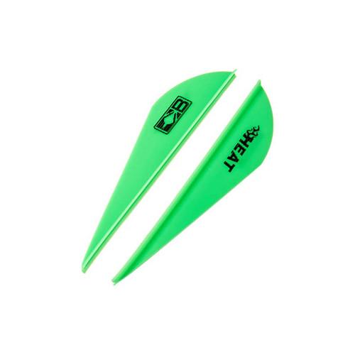 """Bohning 2.5"""" Heat Vanes Neon Green 2.5"""" Heat Vane, 36pk"""