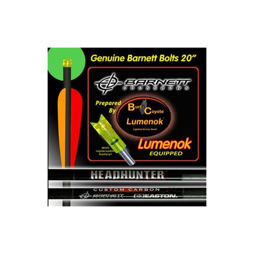 Barnett Lumenok Arrow Lighted Crescent Nock Green Crossbow Bolt 20″