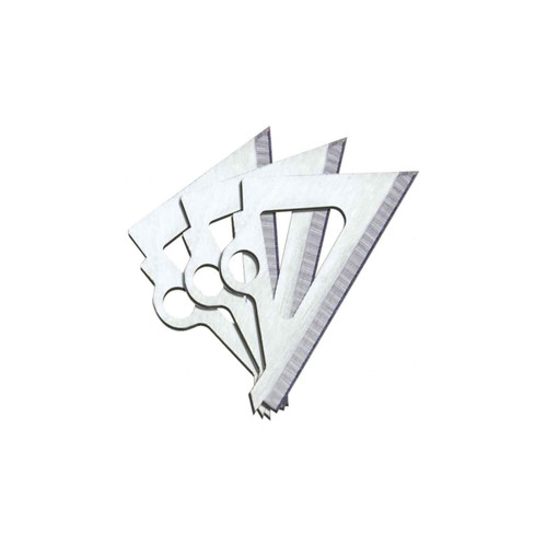 """Muzzy Replacement Blades for 3 Blade Broadhead 100 Gr 1.19"""" CD 18 Pk 320"""