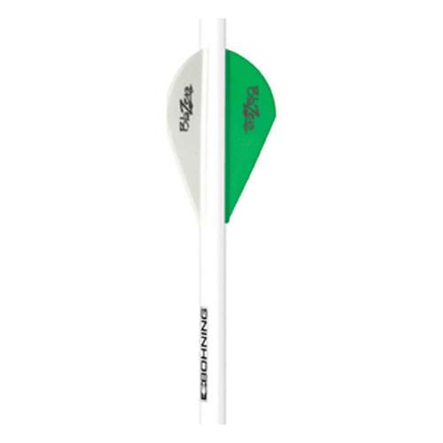 Bohning Blazer Arrow QuickFletch Neon Green / White 6 Pack, 101001NG