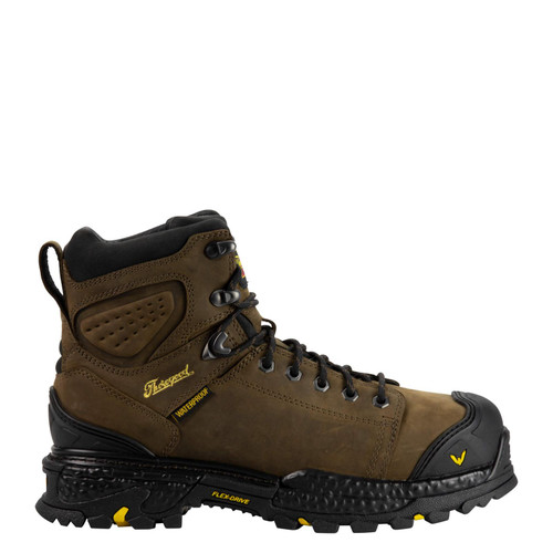 """Thorogood Men's Infinity FD 6"""" Lace to toe Waterproof Composite Toe Brown Boots"""