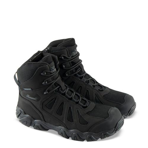 """Thorogood Mens Crosstrex ST SZ BBP Waterproof 6"""" Hiker Black Boots 804-6290"""