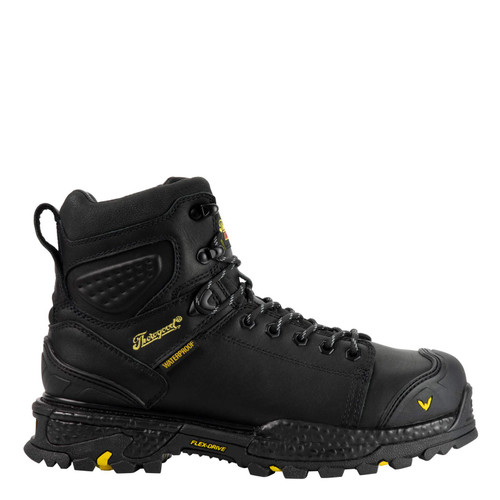 """Thorogood Men's Infinity FD 6"""" Lace to toe Waterproof Composite Toe Black Boots"""