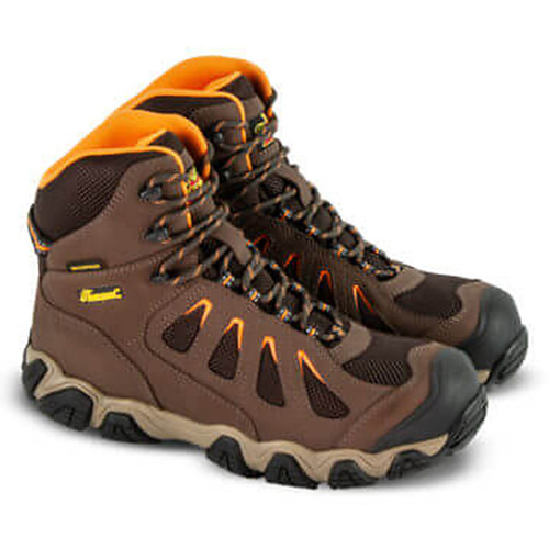 """Thorogood Mens Crosstrex WP 6"""" Safety Toe Hiker Brown Boots 804-4296"""