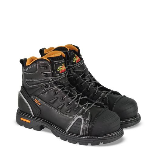 "Thorogood Mens Gen Flex2 6"" Black Composite Safety Toe Boots 804-6444"