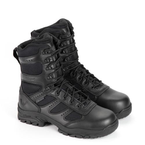 "Thorogood DG The Deuce Waterproof 8"" Tactical Side Zip Black Boots 834-6219"