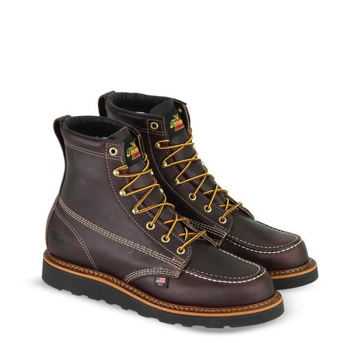"Thorogood Mens American Heritage 6"" Blk Walnut MOC Toe MWW Boots 814-4266"