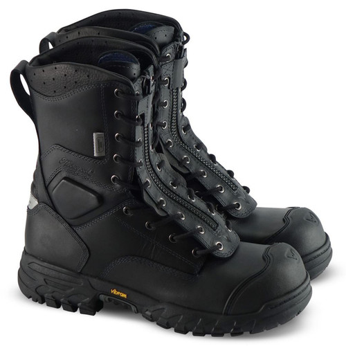 Thorogood Mens 9 Inch Station 1 Mens Ems/Wildland Black Boots 804-6379