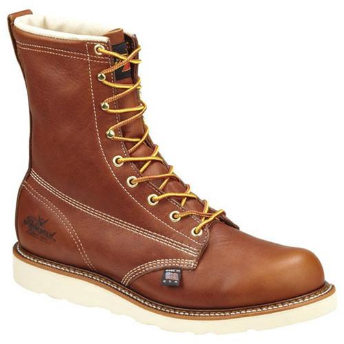 Thorogood Mens 8 Inch Waterproof/Insulated Plain Toe Tobacco Boots 814-4009