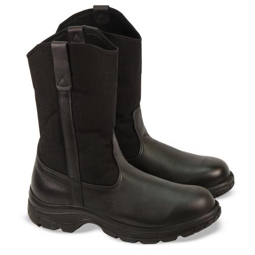 "Thorogood Mens Soft Streets 10"" Safety Toe Wellington Black Boots 804-6111"