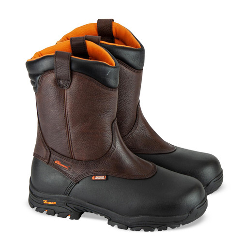 """Thorogood Mens Crossover Waterproof 8"""" CST Wellington Brown Boots 804-4810"""