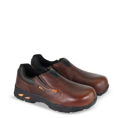 Thorogood DG I Met2 Series Brown Safety Toe Slip On Oxford Boots 804-4320