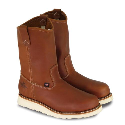 "Thorogood Mens American Heritage 11"" Tobacco ST Wellington Boots 804-4205"